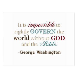 Cartão Postal Citações de George Washington