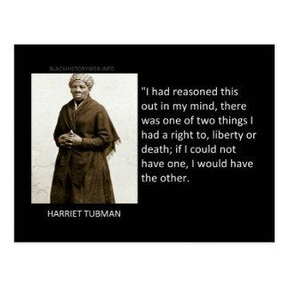 Cartão Postal Citações de Harriet Tubman