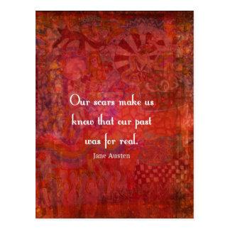 Cartão Postal Citações de Jane Austen sobre experiências da vida