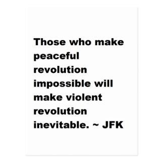 Cartão Postal Citações de JFK