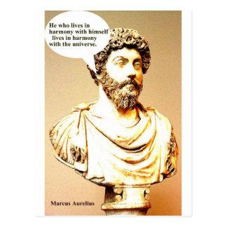 Cartão Postal Citações de MARCUS AURELIUS - ele que vive em wi