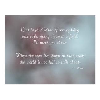 Cartão Postal Citações de Rumi da tolerância