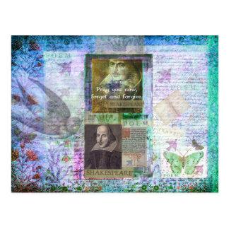 Cartão Postal Citações de Shakespeare na vida e na remissão