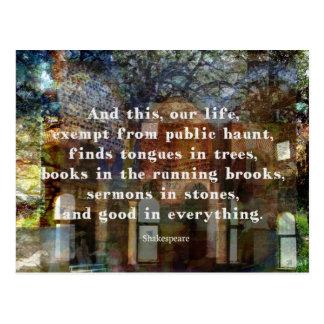 Cartão Postal Citações de Shakespeare sobre a vida