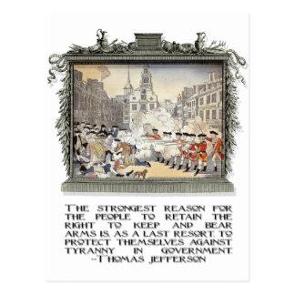 Cartão Postal Citações de Thomas Jefferson: Tirania no governo