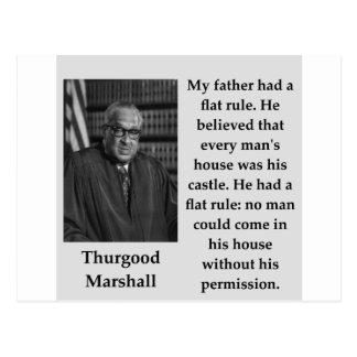 Cartão Postal Citações de Thurgood Marshall
