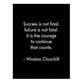 Cartão Postal Citações de Winston Churchill; Sucesso