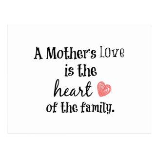 Cartão Postal Citações do amor da mamã