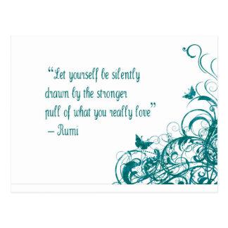 Cartão Postal Citações do amor de Rumi