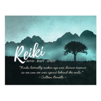 Cartão Postal Citações do mestre de Reiki e do instrutor da