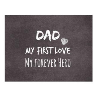 Cartão Postal Citações do pai e da filha: Primeiro amor, para