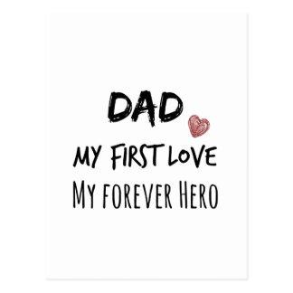 Cartão Postal Citações do pai: Meu primeiro amor, meu herói do