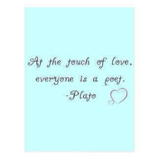 Cartão Postal Citações do poeta do amor de Plato