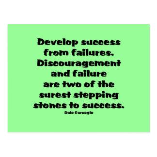 Cartão Postal Citações do sucesso