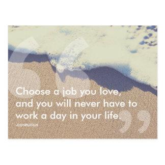 Cartão Postal citações do sucesso de confucius