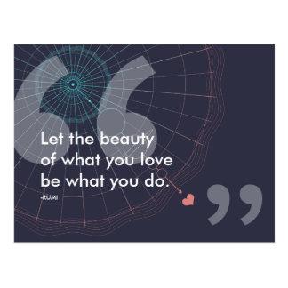 Cartão Postal citações do sucesso do rumi