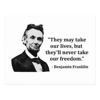 Cartão Postal Citações do troll de Abraham Lincoln