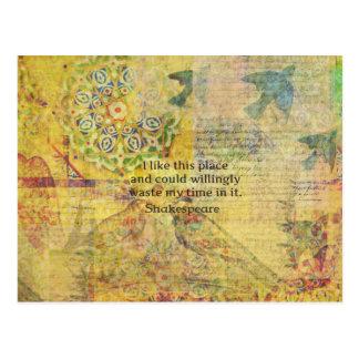 """Cartão Postal Citações engraçadas de Shakespeare """"eu gosto deste"""