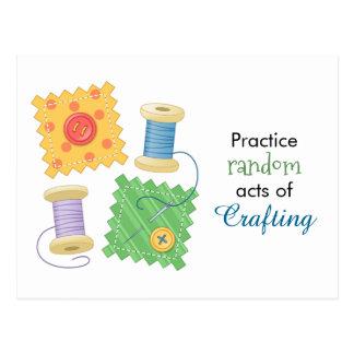 Cartão Postal Citações estofando Sewing do passatempo do
