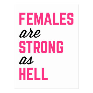 Cartão Postal Citações fortes do Gym do inferno das fêmeas