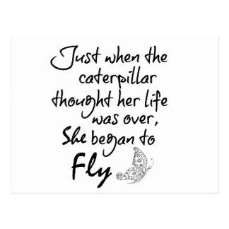 Cartão Postal Citações inspiradas da borboleta