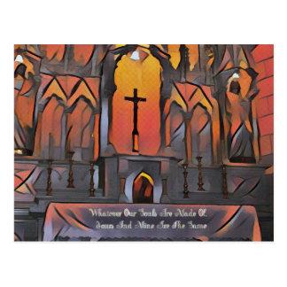 Cartão Postal Citações inspiradas da cruz artística do santuário