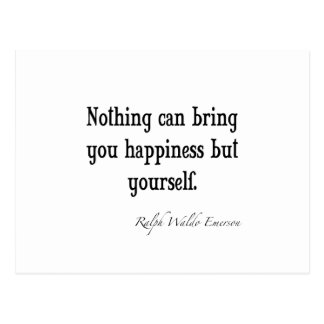 Cartão Postal Citações inspiradas da felicidade de Emerson do