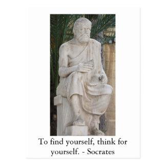 Cartão Postal Citações inspiradas de Socrates