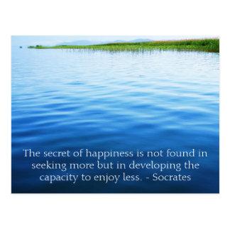 Cartão Postal Citações inspiradas de Socrates sobre o