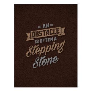 Cartão Postal Citações inspiradas de um obstáculo