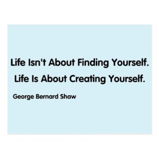Cartão Postal Citações inspiradas - George Bernard Shaw