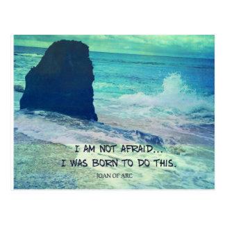 Cartão Postal Citações inspiradas JOANA da coragem do oceano do
