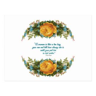 Cartão Postal Citações inspiradas para mulheres por Nancy Reagan
