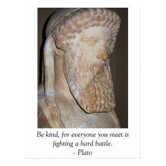 Cartão Postal Citações inspiradores inspiradas de Plato