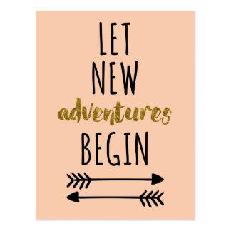 Cartão Postal Citações novas das aventuras