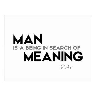 Cartão Postal CITAÇÕES: Plato: Busca do significado