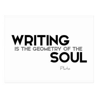 Cartão Postal CITAÇÕES: Plato: Escrita, alma