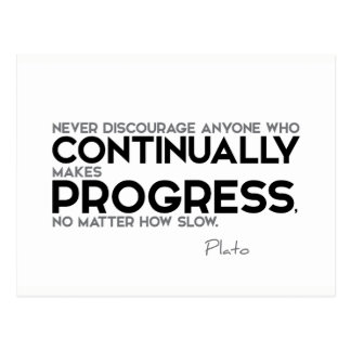 Cartão Postal CITAÇÕES: Plato: Faz continuamente o progresso