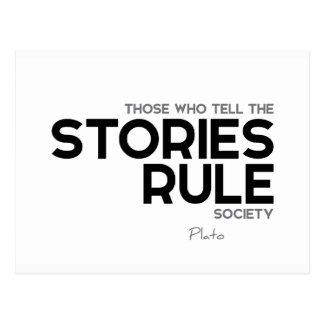 Cartão Postal CITAÇÕES: Plato: Sociedade da regra das histórias