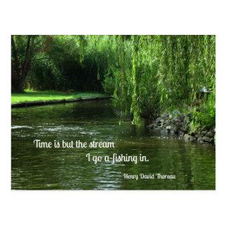 Cartão Postal Citações sobre o tempo e a pesca