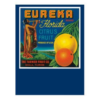 Cartão Postal Citrinos de Florida da marca de Eureka