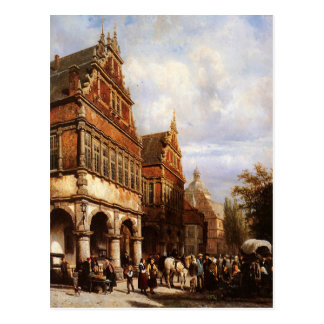Cartão Postal Cityhall Paderborn por Cornelis Springer