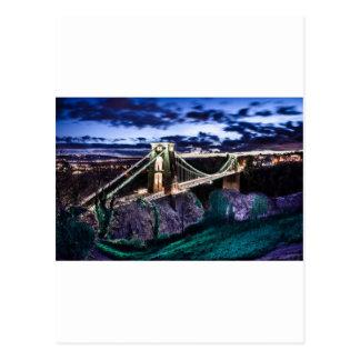 Cartão Postal CL da ponte de Clifton