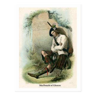 Cartão Postal Clã MacDonald de Glencoe