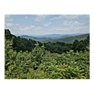 Cartão Postal Clair - parque nacional de Shenandoah