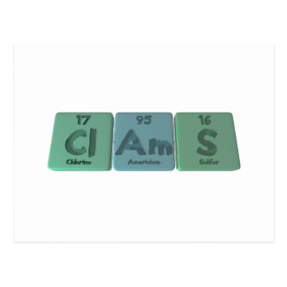 Cartão Postal Clams-Cl-Am-S-Chlorine-Americium-Sulfur.png