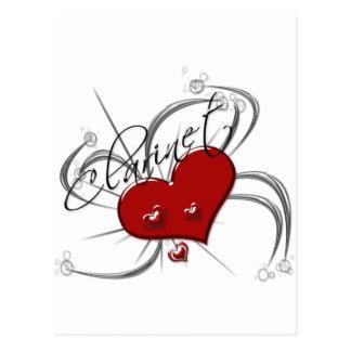 Cartão Postal Clarinete do amor