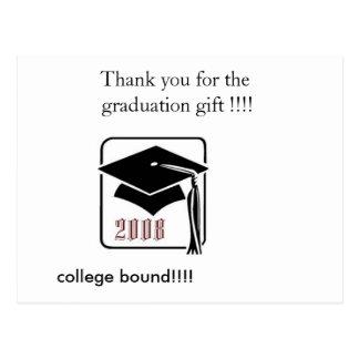 Cartão Postal class_of_2008_graduation_thank você…