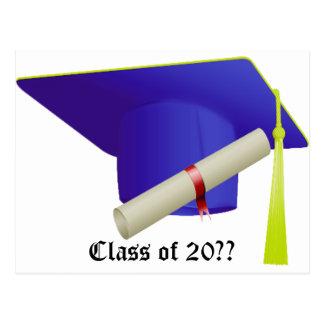 Cartão Postal Classe - de graduação