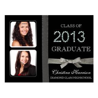 Cartão Postal Classe do anúncio da graduação do encanto 2013 do